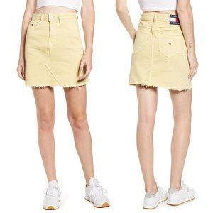 NWT Tommy Hilfiger Denim Mini Skirt French Vanilla
